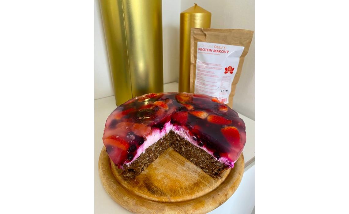 FIT Mrkvový dort s Makovým Proteinem a lesním ovocem
