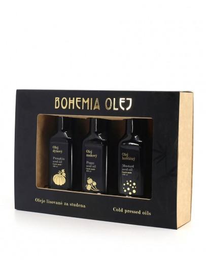Dárkové balení Bohemia Olej - 3x 100ml (dýňový olej, makový olej, hořčičný olej)