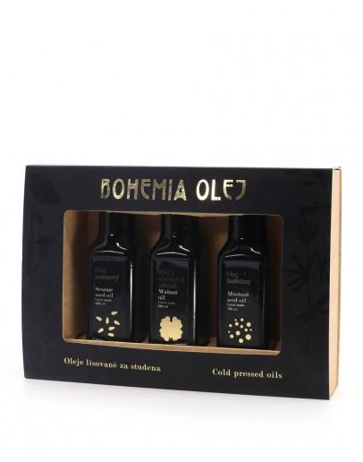 Dárkové balení Bohemia Olej - 3x 100ml (vlašský olej, sezamový olej, hořčičný olej)